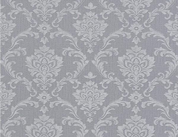 Vliestapete Stil Hellgrau Silber Tedox