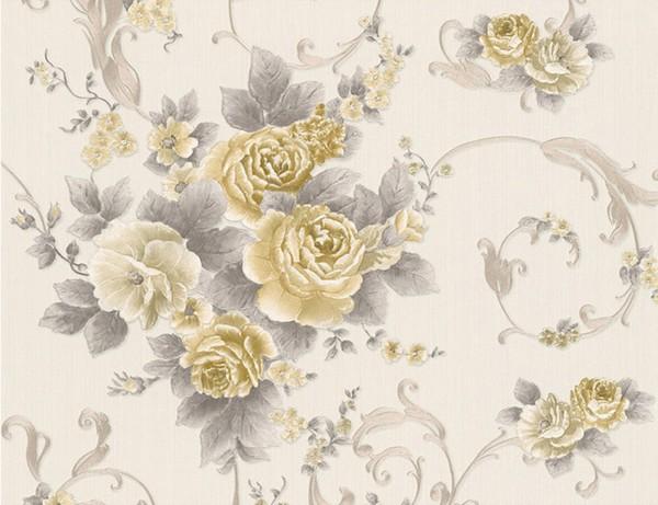 vliestapete blume gold beige von tedox f r 13 00 ansehen. Black Bedroom Furniture Sets. Home Design Ideas