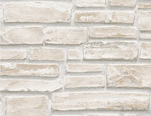 Vinyltapete Steinstruktur beige