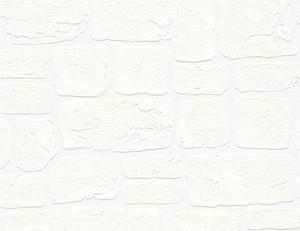 Vinyltapete Steinstruktur weiß