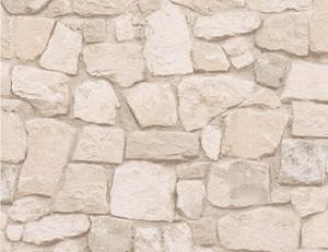 Tapete Papier Stein beige