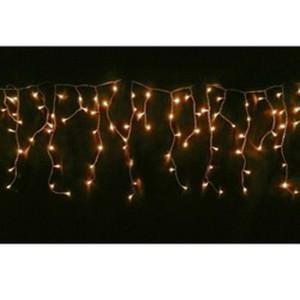 Eiszapfen-Lichtervorhang 4x1m mit 304 warmweißen Lampen für aussen