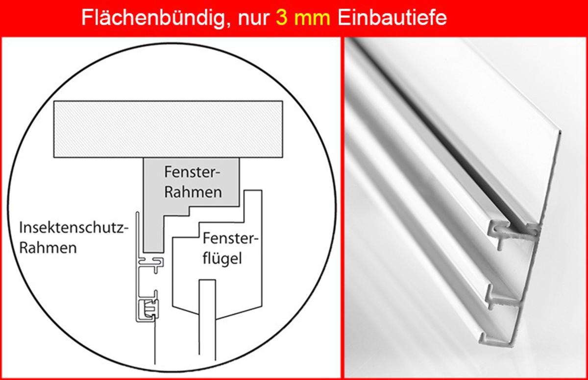 "Bild 2 von Powertec Aluminium-Fliegengitter-Bausatz ""Compact"", 130 x 150 cm"