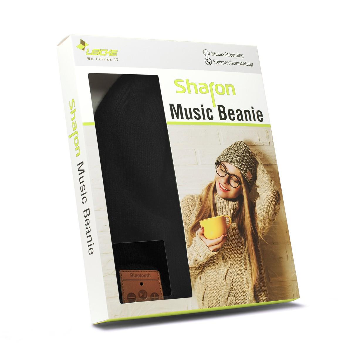 Bild 3 von Sharon Beanie mit Bluetooth Kopfhörer, schwarz