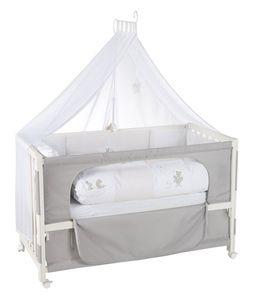 Roba - Holz Kinderbett - Fox and Bunny - Room Bed - mit Himmel - ca. 60 x 120 cm