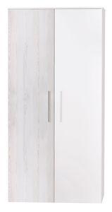 Roba - Holz Kleiderschrank - Alenja - 2-türig - ca. 90 x 50 x 190 cm (LxBxH)