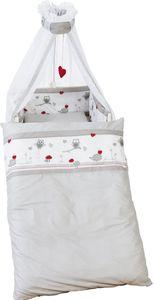 Roba - Kinderbett-Garnitur - Adam und Eule - bedruckt - 4-teilig