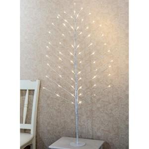 Lichterbaum weiß 120 cm mit 66 LED warmweiß für innen