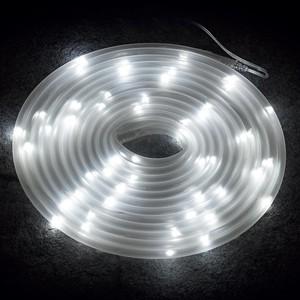 5 m Lichtschlauch 50 weiße LED Solar