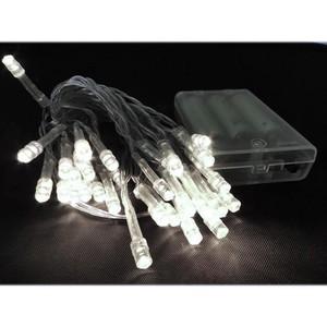 50er LED-Lichterkette weiß batteriebetrieben für Innen