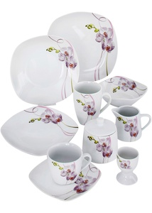 "Geschirr Set ""Orchidee"""