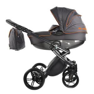 knorr-baby Kombi-Kinderwagen ´´Alive Be Carbon´´, dunkelgrau-orange