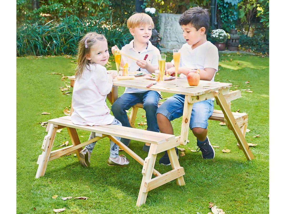Bild 4 von Pinolino 2 in 1 Kindersitzgarnitur und Gartenbank Elli
