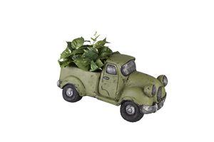 Pflanzgefäß - Truck - grün, aus Magnesia - 52 x 27,5 x 25,5 cm