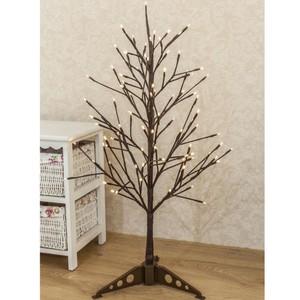 Lichterbaum braun 84 cm mit 96 LED warmweiß für innen