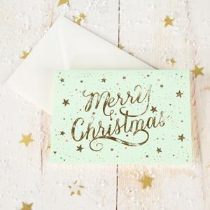 Karte Merry Christmas Goldveredlung 14,75 € / 100g