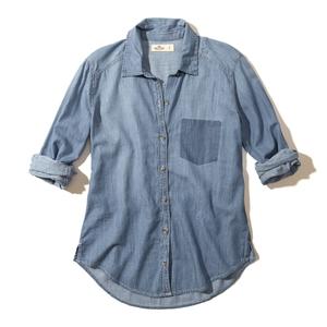 Shadow Pocket Chambray Shirt