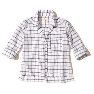 Frayed Hem Plaid Shirt