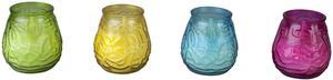 Citronella Glaswindlicht - Lowboy - Ø = 6 cm - verschiedene Farben