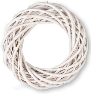 Dekokranz - aus weißer Weide - Ø = 30 cm