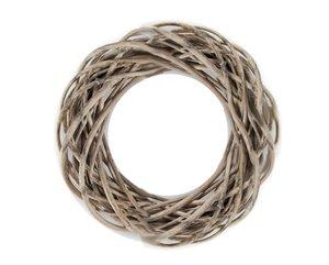 Dekokranz - aus grauer Weide - Ø = 40 cm