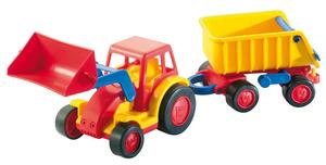 Wader -  Basics Traktor mit Schaufel und Anhänger
