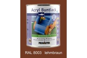 Primaster Acryl Buntlack lehmbraun seidenmatt, 750 ml