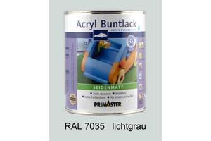 Primaster Acryl Buntlack lichtgrau seidenmatt, 750 ml