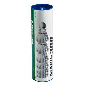 Federbälle Mavis 300 Badminton Kunststoff 6er Dose weiß
