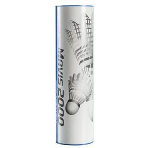 Federbälle Mavis 2000 Badminton Kunststoff 6er Dose weiß