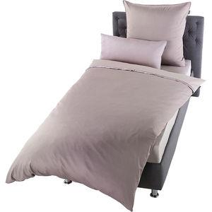 Schöner Wohnen Uni-Satin-Bettwäsche, 3-teilig