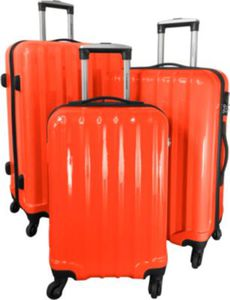Polycarbonat-ABS-Kofferset Miami 3-teilig orange