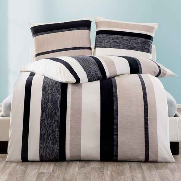dreamtex jersey bettw sche mit jojoba ca 135 x 200 cm elegant stripes von norma ansehen. Black Bedroom Furniture Sets. Home Design Ideas