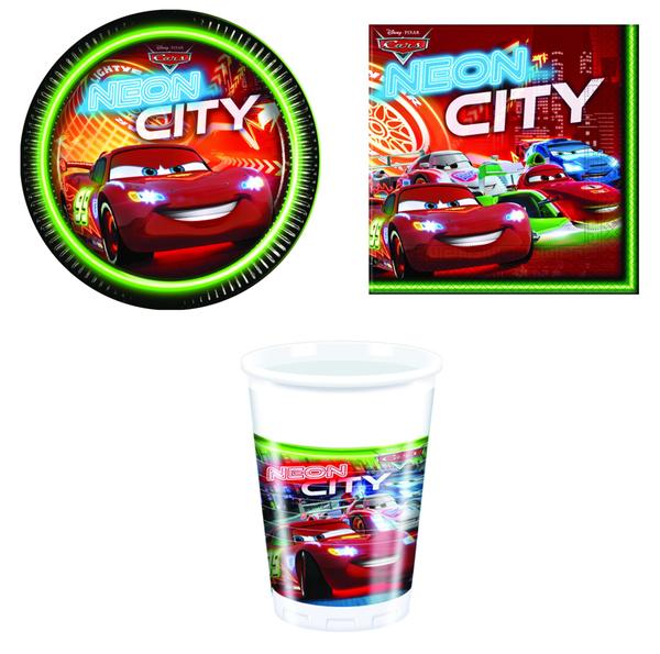 Disney Cars Neon City Party Set klein