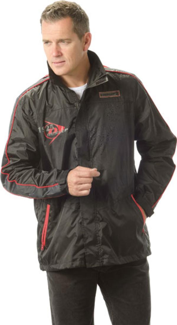 Regenjacke mit Kapuze, Farbe schwarz, verschiedene Größen Dunlop