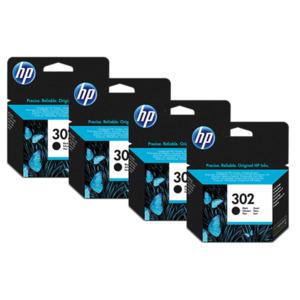 Druckerpatronen HP 302 (4-Pack) schwarz