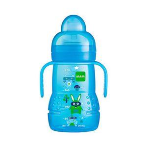 MAM   Trinklernflasche Trainer + 220ml hellblau