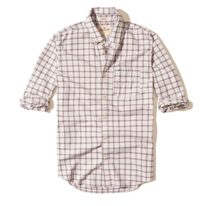 Kariertes Popelin-Hemd mit Stretch