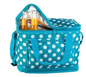 Kühltasche blau mit weißen Punkten 15 L - Mica