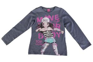 Sweatshirt - Top Model - grau  - verschiedene Größen