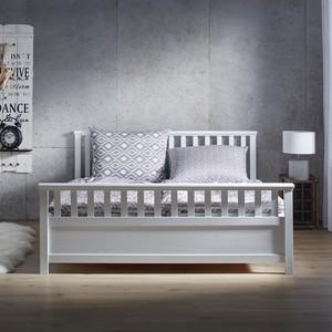 Holzbett Pina aus Kiefer in Weiß ca. 180x200cm