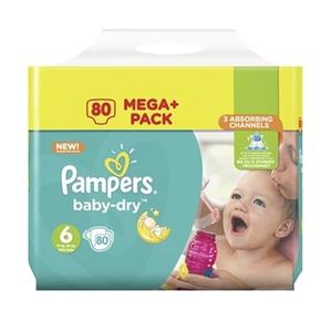 Pampers Windeln Mega Pack Baby Dry Junior Gr. 6 (80 Stück)