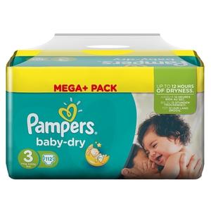 Pampers - Windeln Mega Pack Baby Dry Midi, Gr. 3 (112 Stück.)