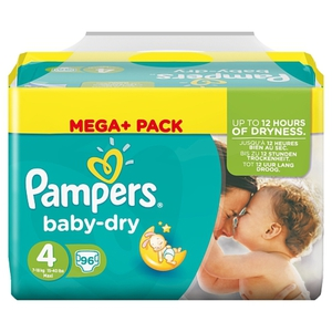 Pampers - Windeln Mega Pack Baby Dry Maxi, Gr. 4 (96 Stück)