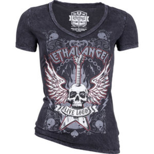 Lethal Angel Live Loud Ladies Shirt