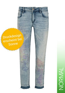 Million X Mädchen 3/4 pants Sunny Face, light blue denim, 158