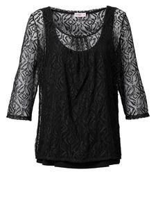 Sheego Shirt, schwarz, 40/42