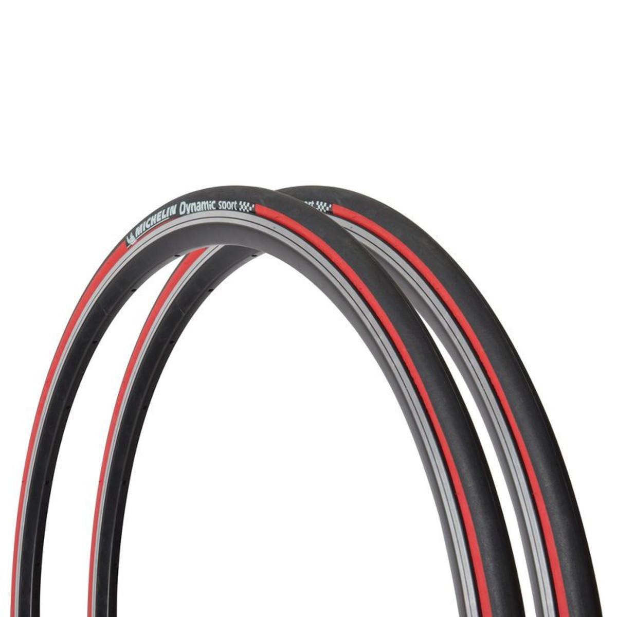 Bild 1 von MICHELIN 2 Drahtreifen Rennrad Dynamic Sport 700x23 (23-622) rot, Größe: Alle