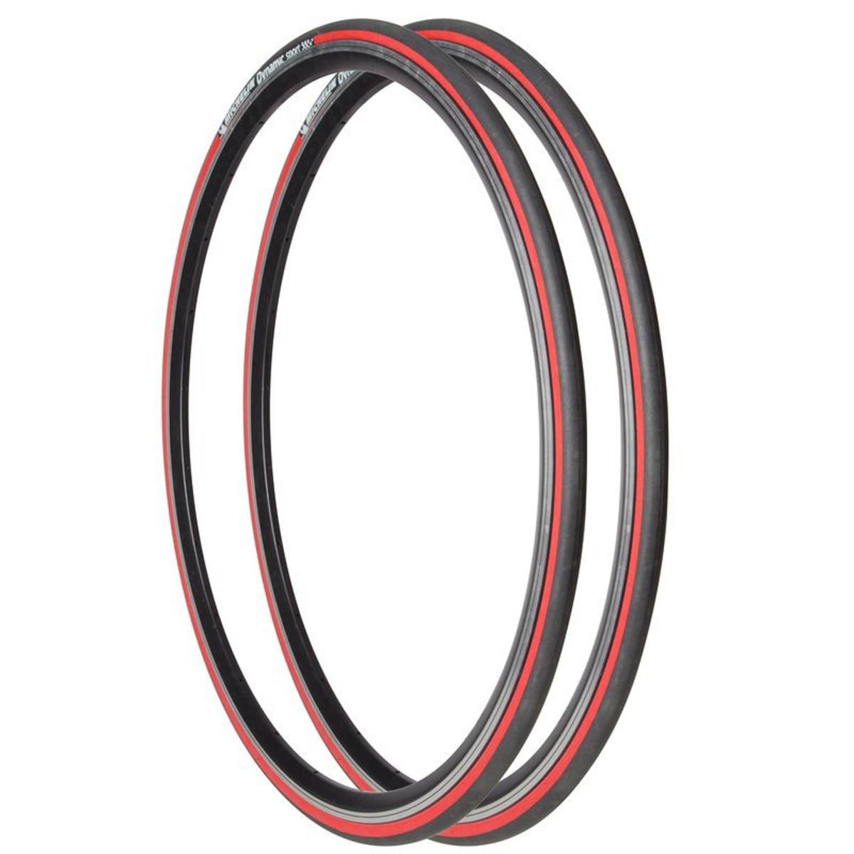 Bild 3 von MICHELIN 2 Drahtreifen Rennrad Dynamic Sport 700x23 (23-622) rot, Größe: Alle