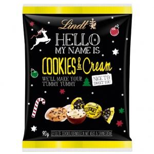 Lindt Hello Xmas Cookies & Cream 90g 3,21 € / 1000g